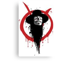 V for Vendetta Ink Canvas Print