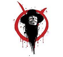 V for Vendetta Ink Photographic Print