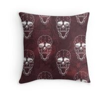 Terrible frightening seamless pattern with skull Throw Pillow