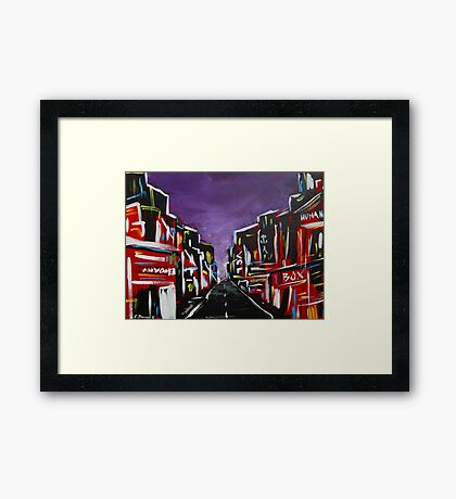 An Empty Street at 3 a.m. Framed Print