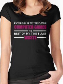Computer Gaming Women's Fitted Scoop T-Shirt