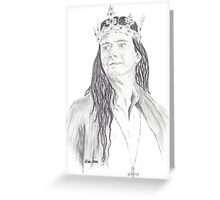 David Tennant as Richard II  Greeting Card