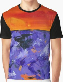 Lavender Sunset Abstract Landscape Graphic T-Shirt