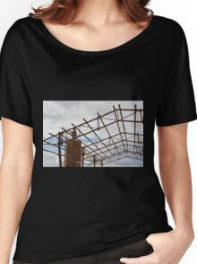Rusted Industrial Tank and Metal Frame Women's Relaxed Fit T-Shirt