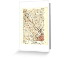 USGS TOPO Map Rhode Island RI Pawtucket 353441 1949 31680 Greeting Card