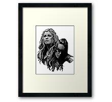 heda lexa Framed Print