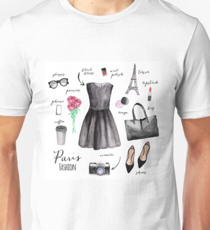 Paris style fashion illustrations Unisex T-Shirt