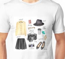 Paris style fashion illustrations Unisex T-Shirt