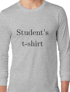 Student's t-shirt LIGHT Long Sleeve T-Shirt