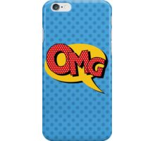 Comics Bubble with Expression OMG in Vintage Style iPhone Case/Skin