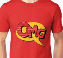 Comics Bubble with Expression OMG in Vintage Style Unisex T-Shirt
