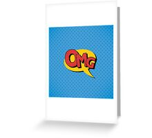 Comics Bubble with Expression OMG in Vintage Style Greeting Card