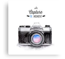 Paris style camera fashion illustrations Canvas Print