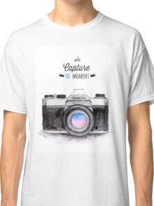 Paris style camera fashion illustrations Classic T-Shirt