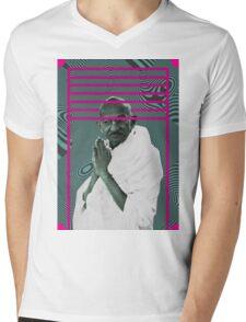 Gandhi Mens V-Neck T-Shirt