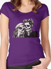 Day of the Dead Lovers Women's Fitted Scoop T-Shirt