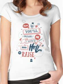 LITTLE HELL Women's Fitted Scoop T-Shirt