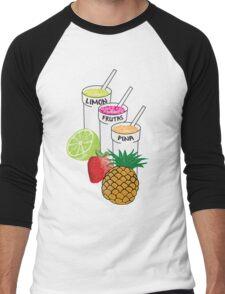 Summer Fruit smoothie Men's Baseball ¾ T-Shirt