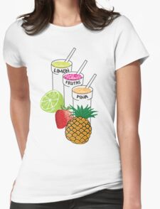 Summer Fruit smoothie Womens Fitted T-Shirt