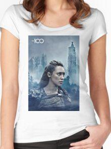 commander lexa Women's Fitted Scoop T-Shirt