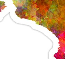 Costa Rica in watercolor Sticker