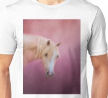 Pretty in Pink Palomino Horse Art Unisex T-Shirt
