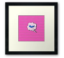 Comics Bubble with Expression Oops in Vintage Style Framed Print