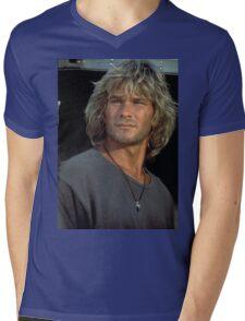 Patrick Swayze Mens V-Neck T-Shirt