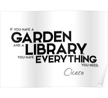 garden and library - cicero Poster