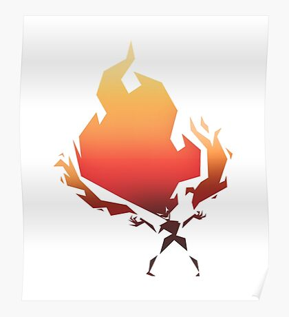 Flame On! - Fire Woman Poster