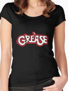 grease logo Women's Fitted Scoop T-Shirt