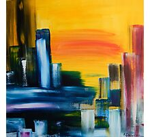 City Sunrise Contemporary Abstract Cityscape Photographic Print