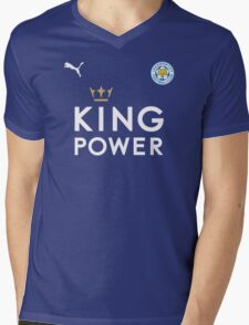 Leicester City F.C. The Foxes logo Mens V-Neck T-Shirt