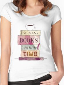So many books Women's Fitted Scoop T-Shirt