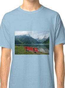 Red bench with a view Classic T-Shirt