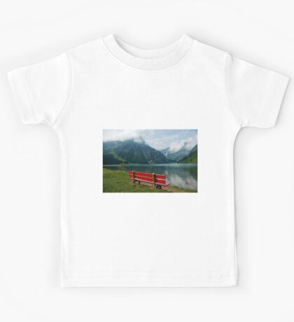 Red bench with a view Kids Tee