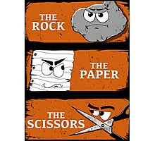 The Rock The Paper The Scissors Photographic Print