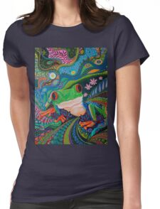 Red Eye Tree Frog Womens Fitted T-Shirt
