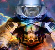 Astronaut Disintegration Sticker