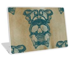 Terrible frightening seamless pattern with skull Laptop Skin
