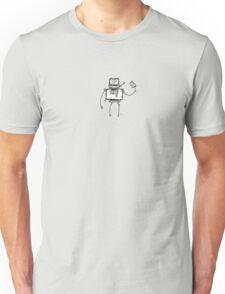VEE the robot - white BG Unisex T-Shirt