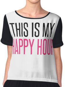 Happy Hour Gym Quote Chiffon Top