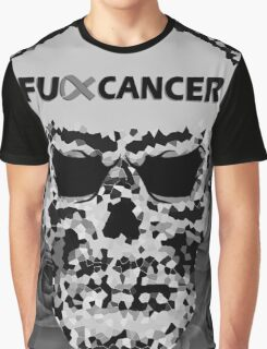 Fuck Cancer // Pixel Skull // Flowers  Graphic T-Shirt