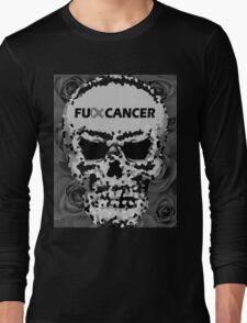 Fuck Cancer // Pixel Skull // Flowers  Long Sleeve T-Shirt