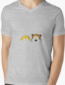 calvin and hobbes head Mens V-Neck T-Shirt