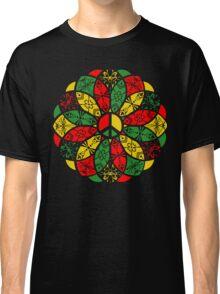 Ornamental Peace Mandala - Rasta Colours Classic T-Shirt
