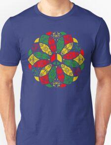 Ornamental Peace Mandala - Rasta Colours Unisex T-Shirt