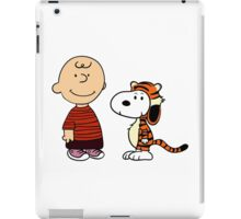 calvin and hobbes meets peanuts iPad Case/Skin