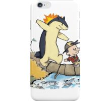calvin and hobbes meets pokemon iPhone Case/Skin