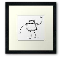 CARET the robot Framed Print